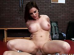 Diamond Foxxx with juicy hooters loves Xander Corvuss hard worm thrusting back and forth in the ass