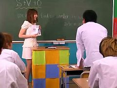 Beautiful Slender Asian Teacher