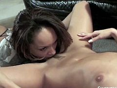 Hot and sexy lesbian scene for your boring evening! Two juicy and desirable babes are going to lick and finger each other in some poses.