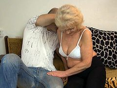 Watch this old but still horny granny enjoying that cunilingus from perverted bold jerk in her bedroom in Old Nanny sex clips.