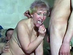 Russian MILF and two guys - 8