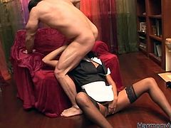 Have a look at this hardcore scene where the sexy ebony babe Keisha Kane has her tight asshole drilled by this guy's thick cock after sucking on it.