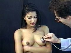 Pay attention to this Indian lady, with nice tits and a hairy kitty, while a guy with a foot fetish gets horny and fucks her madly!