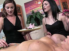 This rapacious tasty looking bitch got amazing and unforgettable b-day present ever. Her bosomy sexy lesbo kookies gave her thirsting kitty energetic divine eating. Watch this dirty lesbo b-day in Wicked porn clip!