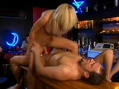 What a charming and naughty angel Holly Wellin is! Honey wants her man to be hers and he lays there and enjoy how she rides him.