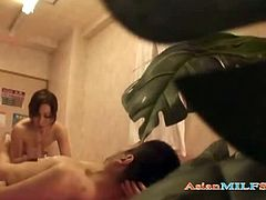Asian milfs hot sex play