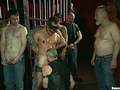 Share this with your friends! A lot of gays do an extremely wild party together at a club. These crazy fellows are into bondage and sadism sex!