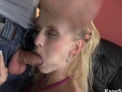 This blonde babe has some sexy pictures with him and another guy. Her boyfriend finds them and fucks her really hard as a punishment. She doesn't object as she likes it.