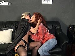 Strapon sex among two horny mature ladies