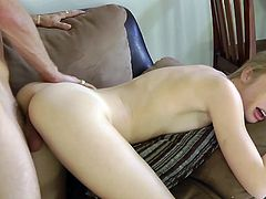 Blonde beauty enjoys cock deep in her needy vag during a sexy hardcore fuck
