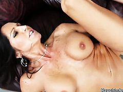 Johnny Castle whips out his love wand to fuck saucy Tara Holidays love hole