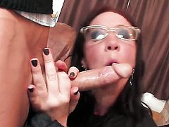 Jayden Jaymes gets her mouth fucked literally to death by hot man