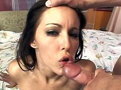 Needy Jenna Presley is amazed by having two large cocks to play with