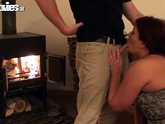Cora Kitty is a sexy redhead with an amazing ass and a great need for rough sex. Watch this slutty babe sucking and fucking this guy's hard cock until he cums on her face.