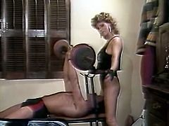 Sporty blonde temptress gets fucked in missionary position