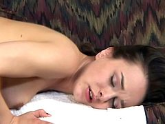 Brunette girl gives a blowjob in an interracial video. Then this hottie gets fucked in doggystyle and missionary poses. In the end she also gets facialed.