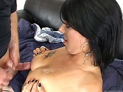 All she needs to do is to give him a hell of a blowjob. Erection is on and now it's right about the time to fuck that leaking pussy!