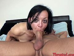 Dark haired torrid hootchie has incredibly terrible mouth fuck. Her freaky stud doesn't feel sorry for her tiny mouth he pokes it harshly deep throat. Watch this violent mouth pounding in My XXX Pass porn clip!