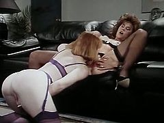 Long haired blond head filthy whoe gets her thirsting twat poked from behind by massive chocolate cream stick. Meanwhile two insatiable bitches provide each other with awesome rim job. Watch this dirty sex in The Classic Porn sex clip!