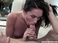 Silverstone Video brings you a hell of a free porn video where you can see how the alluring Amber Rayne sucks cock and gets banged hard into a spectacular orgasm.