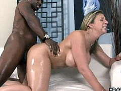 Big Tits HD brings you a hell of a free porn video where you can see how the busty blonde milf Sara Jay rides a hard black cock into heaven while assuming very hot poses.