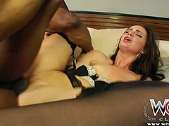White brunette starlet Lily Carter gets rammed by bbc of Prince Yahshua