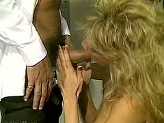 Dirty-minded blondie gets brutally fucked from behind