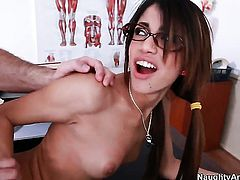 Senorita Veronica Rodriguez is good at fucking and her horny bang buddy John Strong knows it