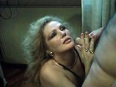 Insatiable light haired stacked babe with massive Mamillas and huge tits gets powerful doggy style fucked and strong mouth fuck as well. And she gets adorable cum shot in her mouth. Watch this plump slut in The Classic Porn sex clip!