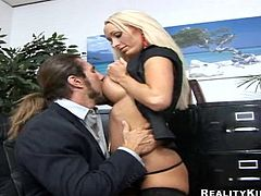 Press play to watch this blonde MILF with giant fake boobs getting her twat licked! The way Lichelle Marie curves her back will drive you wild!