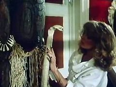 Fuck starving long haired blond wench rests leg spread and gets her dreadfully hairy flaccid twat energetically eaten by horny filthy chick. watch this amazing hairy pussy licking in The Classic Porn sex clip!