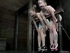 Tracey Sweet and Sarah Jane Ceylon are hot slaves. Courtesy of Infernal Restraints you can see them getting tied up and forced to go lesbo to pleasure their master.