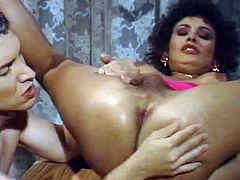High pooped well graced dark haired slutty TS cutie gets his hot blooded penis and massive nipples tenderly eaten by his kinky pal. Then receives hardcore asshole fuck. Watch this tranny fuck in The Classic Porn sex clip!