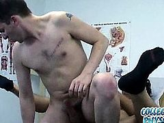 Cute college boy gets fucked by doctor on a routine visit.