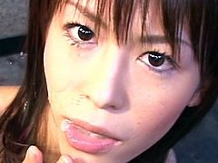 Insolent Japanese amazes with her warm lips during top asian oral show