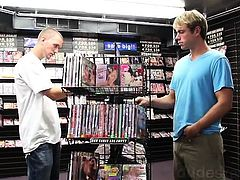 Aaron and Devin are cruising at a local adult video store.