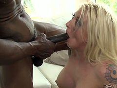Wesley Pipes is having fun with busty blonde mom Leya Falcon. Wesley fucks Leys's cunt ardently and then lets the bitch drill his ass with a strapon.