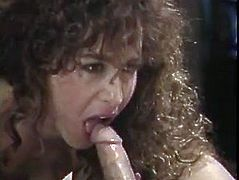 Filthy curly beauty gets her hairy cunt nailed missionary style