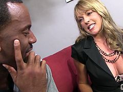 This sexy white MILF gets her toes licked and sucked on by a hung black guy who then lays the pipe and fucks her brains out.