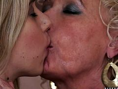 Absolutely crazy blond harlots, one of which is old enough, serve pervert and shameless nipple sucking and pussylicking to each other. Look at these torrid bitches in 21 Sextury sex clip!
