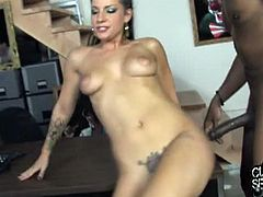 Tori lux gets fucked in front of her slave