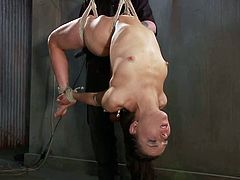She is a damn sex doll and she is going to live some amazing moments in this BDSM session! Honey is in pain and she loves that!