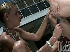 These two hotties have no shame. They get naked outside, fuck each other with their toys and cum so hard they lose their minds.