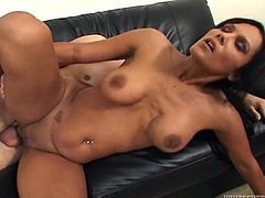 Anjanette Astoria is a desirable and such a delightful one! She grabs that cock for an oral seduction! Then some hot poses begin!