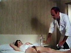 Brown head hot blooded salacious hoe rests leg spread in bed. Her brutal stud thoroughly shaves her impossibly haired twat and eats it greedily after that. Watch this pussy shaving in The Classic Porn sex clip!