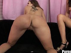 Pornstar brings you a hell of a free porn video where you can see how the wild brunette Kelly Divine and the sexy Asian slut London Keyes share a hard cock.