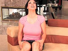 Busty Jelena Jensen likes to pose when deep fingering her puffy twat and firm nipples