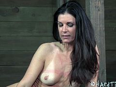 Hard Tied brings you a hell of a free porn video where you can see how the hot brunette India Summer gets tied up by her master in his dungeon while she gets ready for something wild.