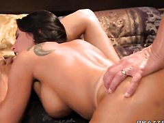 With juicy melons and her horny bang buddy Marco Banderas are in the mood for oral sex