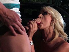 Have a look at this hardcore scene where the busty blonde Stormy Daniels is nailed by a big cock until her large breasts are covered by warm semen.